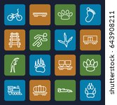 track icons set. set of 16...   Shutterstock .eps vector #643908211