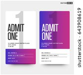 admit one ticket template with... | Shutterstock .eps vector #643908619