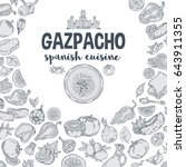 vector.gazpacho. ingredients.... | Shutterstock .eps vector #643911355