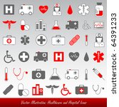medical and healthcare vector... | Shutterstock .eps vector #64391233