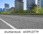 empty asphalt road front of... | Shutterstock . vector #643913779