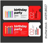 happy birthday invitation... | Shutterstock .eps vector #643918027