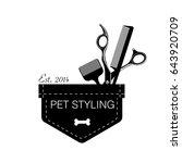 logo for pet hair salon ...   Shutterstock . vector #643920709