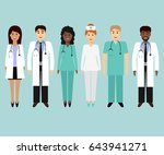 medical characters flat people. ... | Shutterstock . vector #643941271