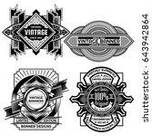 vintage background label design ... | Shutterstock .eps vector #643942864