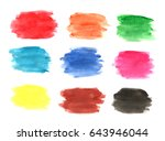 watercolor stains for... | Shutterstock . vector #643946044