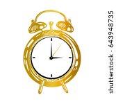 ancient desk clock  alarm clock ... | Shutterstock .eps vector #643948735