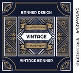 vintage flyer background design ... | Shutterstock .eps vector #643949095