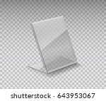 display stand  acrylic table... | Shutterstock .eps vector #643953067