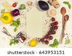 food. frame  flat lay  overhead | Shutterstock . vector #643953151