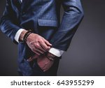 fashion portrait of young... | Shutterstock . vector #643955299