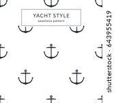 seamless anchor navy blue... | Shutterstock .eps vector #643955419
