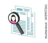 hr management  recruitment... | Shutterstock .eps vector #643957261