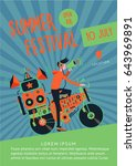 summer festival music poster... | Shutterstock .eps vector #643969891