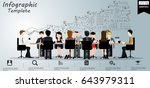 vector  businessman and lady ... | Shutterstock .eps vector #643979311