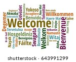 welcome in different languages... | Shutterstock .eps vector #643991299