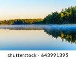 Sunrise Over The Lake Haukives...
