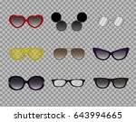 a collection of trendy glasses  ...   Shutterstock .eps vector #643994665