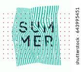 summer typographic vintage... | Shutterstock .eps vector #643995451
