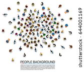 big people crowd on white... | Shutterstock .eps vector #644001169