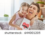 happy father's day  child... | Shutterstock . vector #644001205