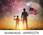 patriotic holiday. happy kid ... | Shutterstock . vector #644001274