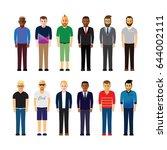 group of people | Shutterstock .eps vector #644002111