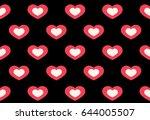 heart in heart positive love... | Shutterstock .eps vector #644005507