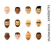 icon of faces  on white... | Shutterstock .eps vector #644006791