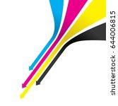 an arrow cmyk line background | Shutterstock .eps vector #644006815