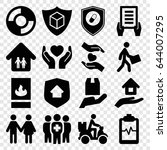 insurance icons set. set of 16... | Shutterstock .eps vector #644007295