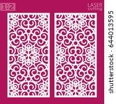 ornamental panels template for... | Shutterstock .eps vector #644013595