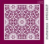 laser cut square ornamental... | Shutterstock .eps vector #644013619