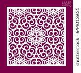 laser cut square ornamental... | Shutterstock .eps vector #644013625