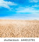 beach background | Shutterstock . vector #644013781