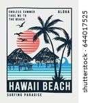 hawaii vector illustration for... | Shutterstock .eps vector #644017525