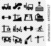 lift icons set. set of 16 lift...   Shutterstock .eps vector #644020417