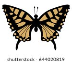 Silhouette Of Swallowtail...