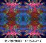 abstract mosaic background.... | Shutterstock . vector #644021941