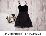 little black dress and black