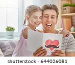 happy father's day  child... | Shutterstock . vector #644026081