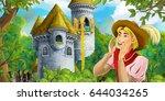 cartoon medieval scene of a... | Shutterstock . vector #644034265
