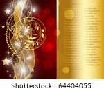 merry christmas and happy new... | Shutterstock .eps vector #64404055