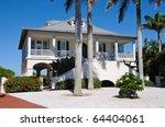 New Luxury Beach House - stock photo