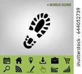 footprint boot sign. vector.... | Shutterstock .eps vector #644052739