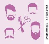 cute vector illustration of men ... | Shutterstock .eps vector #644061955