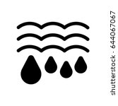 water drops and waves icon.... | Shutterstock .eps vector #644067067