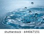 beautiful splash of blue water | Shutterstock . vector #644067151