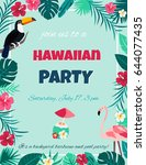 cocktail with hibiscus flowers... | Shutterstock .eps vector #644077435