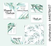 template cards set with...   Shutterstock . vector #644078437